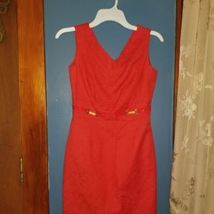 Tahari orange Sleeveless Dress size 2